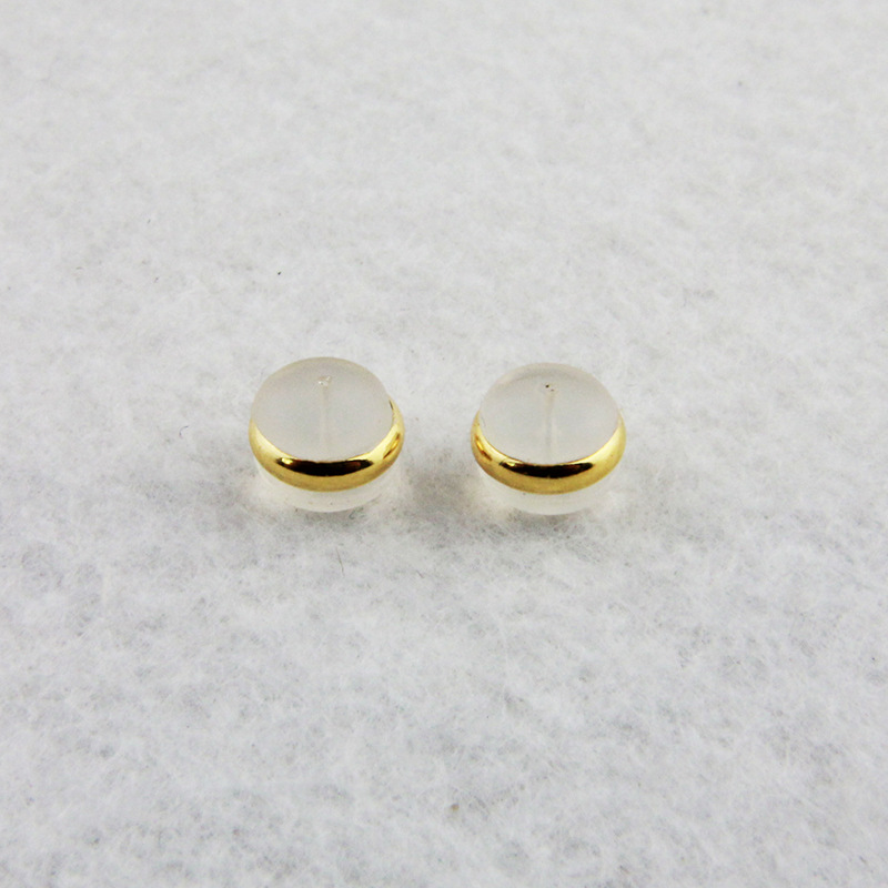 20 PCS 5.5mm*7mm Earrings Set Transparent Silicone Earring Stopper Ear Plugging Earring Backs DIY Jewelry Findings