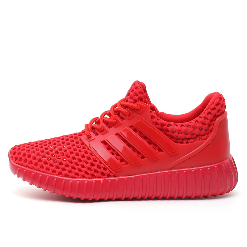 womens running shoes for sport running workout shoes grid Breathable mesh summer jogging shoes red white running shoes tennis X