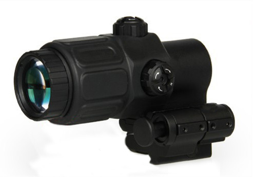 Tactical Airsoft Holographic Sight 3x Magnifier for Red Dot Sights With STS Mount Scope For Hunting Rifle HT6-0063 vector optics mini 1x20 tactical 3 moa red dot scope holographic sight with quick release mount fit for ak 47 7 62 ar 15 5 56