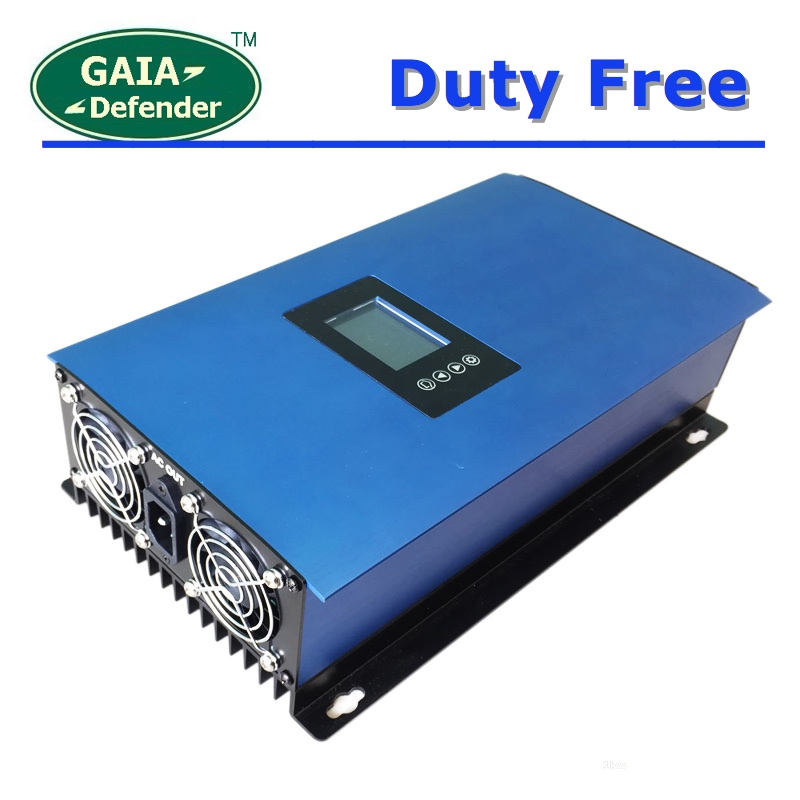 Duty Free 1000W Battery Solar Panels Grid Tie Inverter with Limiter DC22 65V 45 90V AC