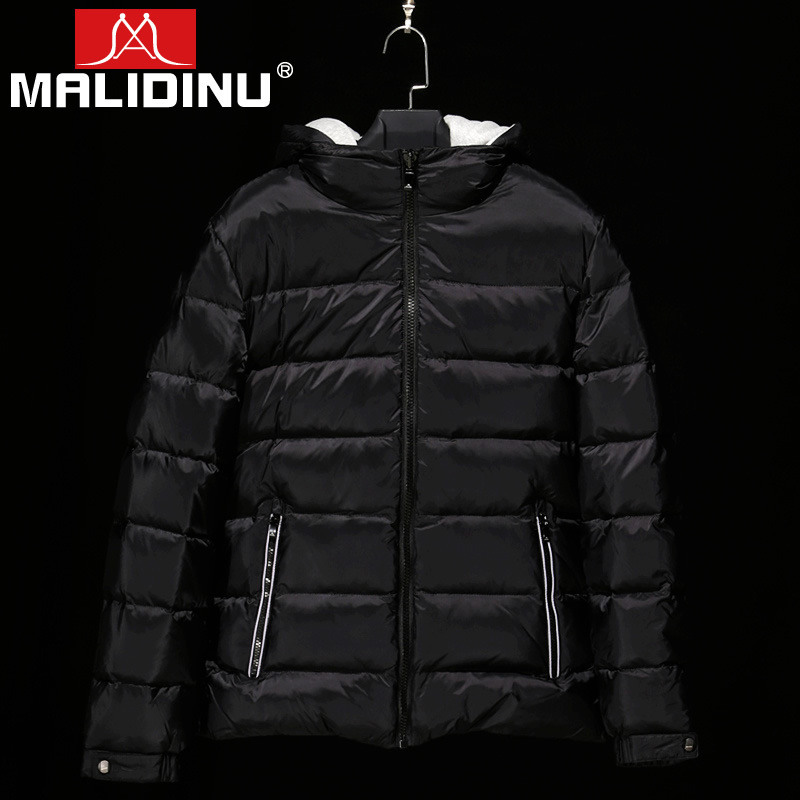 MALIDINU 2019 Men   Down   Jacket Winter Jackets   Down     Coat   Brand 70% Duck   Down   Winter Thicken Jacket Detachable Hood Free Shipping