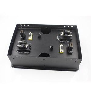 Image 4 - Настольная розетка JOHO, алюминиевая черная/серебристая Панель европейского стандарта, открытый тип, настольная электрическая розетка с аудиоразъемом VGA HDMI