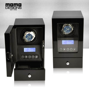 Winder-Box Watch Automatic for Single Watch-Storage-Display with Lcd-Touch Wooden Deluxe