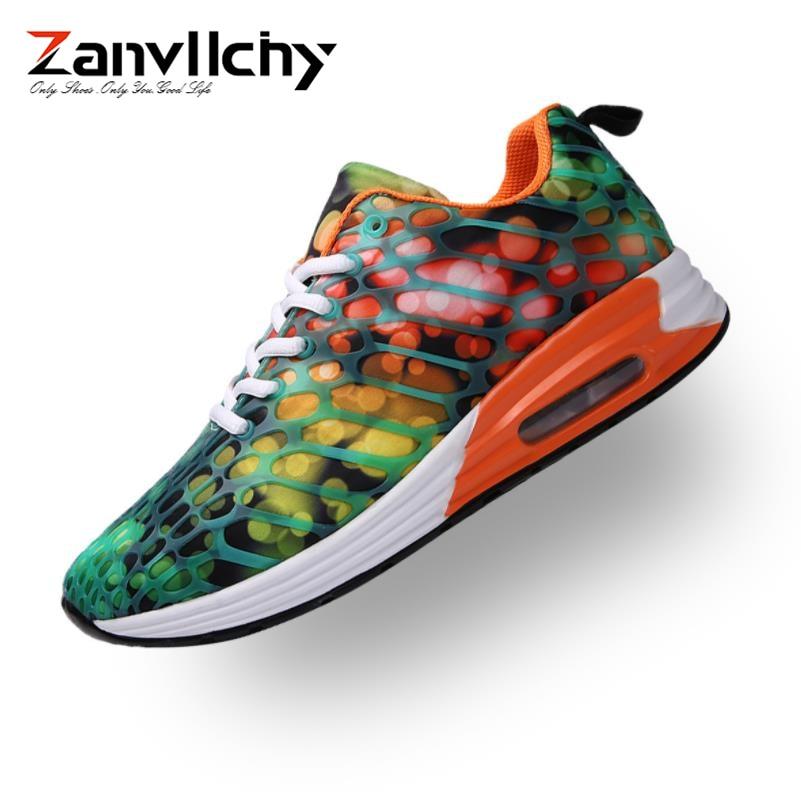 e5109375e0a7 vert Tendance Chaussures Sport De Les Mode rose Sneakers orange Bleu  Printemps Casual Coussin D'air ...