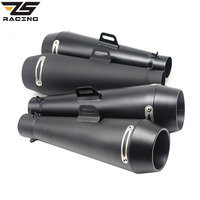 ZS Racing Motor Sports For FZ1 KAWASAKI M4 Exhaust Pipe CBR R6 CBR1000 Muffler Pipe Escape Moto 51mm Without DB Killer