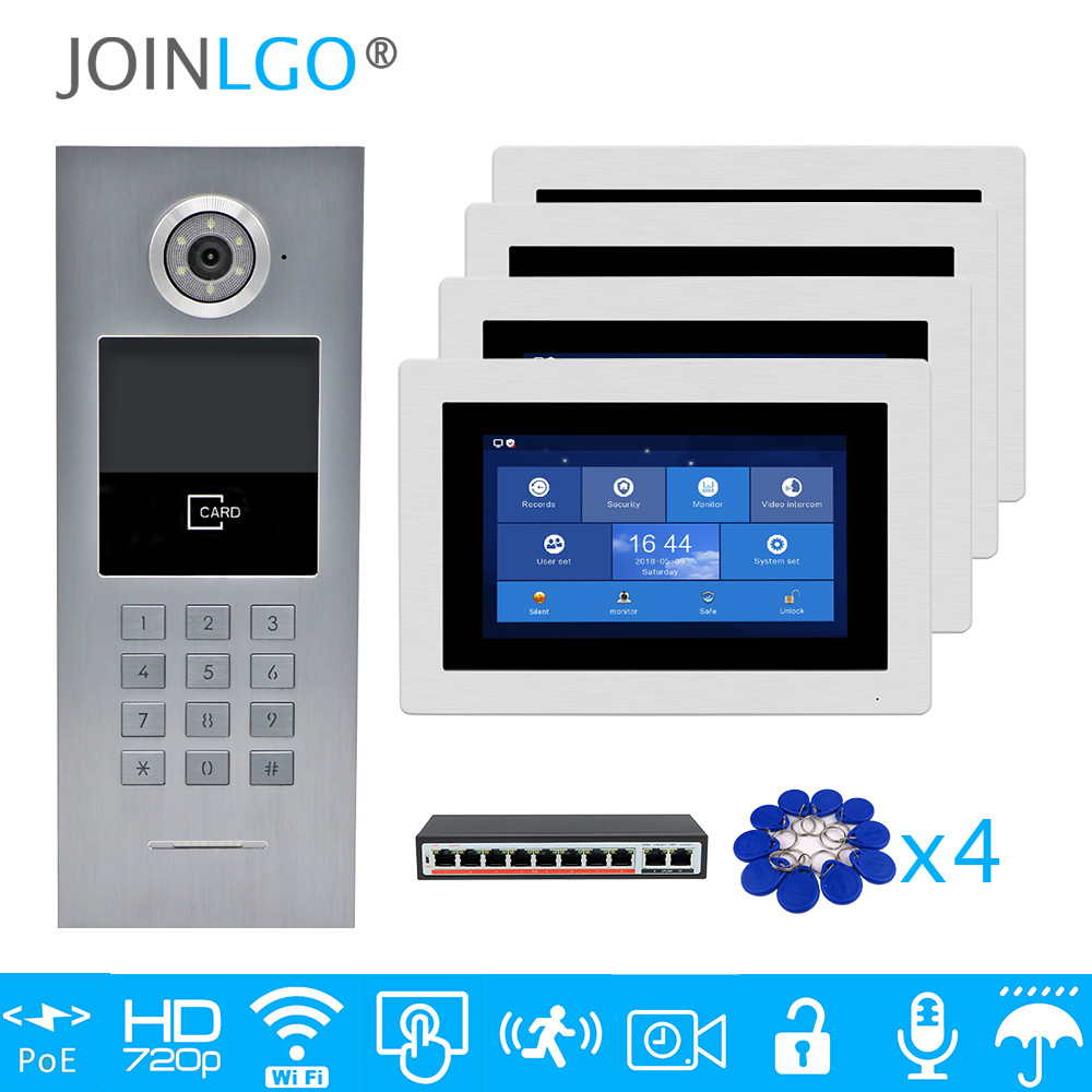 Free Shipping 4 Apartments POE 720P IP Wifi 7