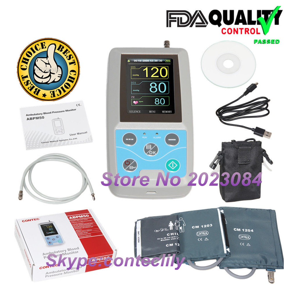 ABPM50 24 hours Ambulatory Blood Pressure Monitor Holter ABPM Holter BP Monitor with software contecABPM50 24 hours Ambulatory Blood Pressure Monitor Holter ABPM Holter BP Monitor with software contec