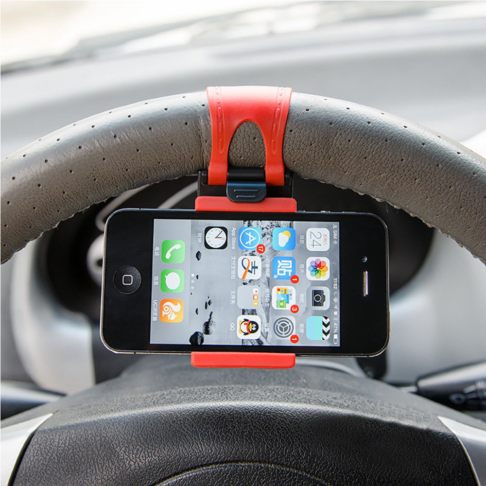 Car Steering Wheel Mount Rubber Band Cellphone Holder Smart Phone Support Stand Car Mount Steering Wheel GPS Rubber band holder