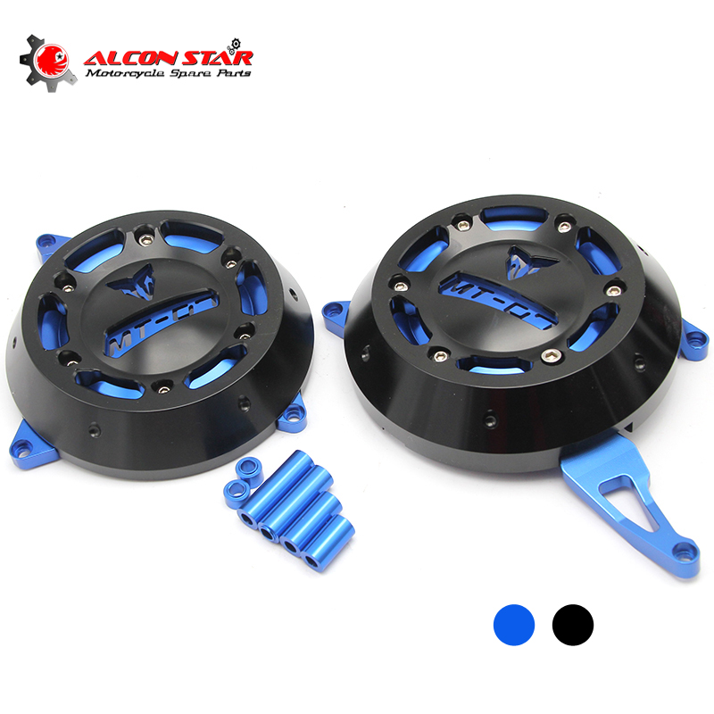 Alconstar- Motorcycle Engine Stator side Case Cover Engine Cover Protector For YAMAHA MT-07 MT07 FZ-07 FZ07 2014-2017 cnc blue motorcycle engine stator cover protective protector side for yamaha mt 09 fz 09 mt09 fz09 2014 2015 2016 14 15 16