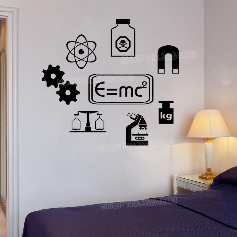SCIENCE Vinyl Wall Art QUOTE Sticker School Learning Chemistry Wall Decals  Bedroom Decor Laboratory Waterproof DIY Stickers S512