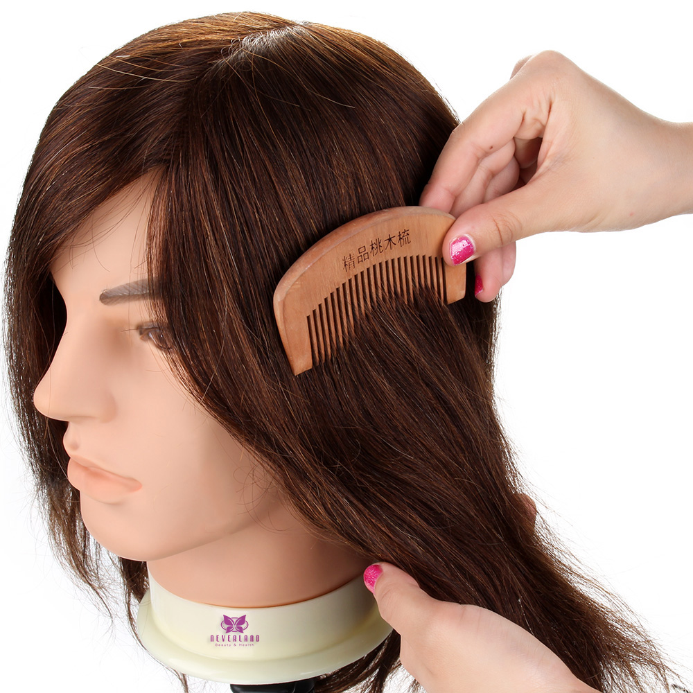 12 Real Hair Male Hairdressing Training Head Man Salon Hair Design