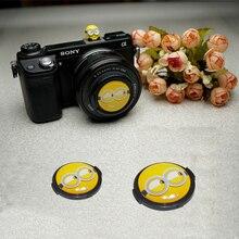 3D мультфильм камера Фонарик Горячий башмак 37 мм 40,5 мм 43 мм 46 мм 49 мм 52 мм 55 мм 58 мм крышка объектива для Canon Nikon Fujifilm sony камера