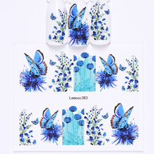 LEMOOC 45 Designs Nail Sticker New Slider Wraps Decor Feather Flower Water Decals Transfer Stickers for Nails Art Decoration