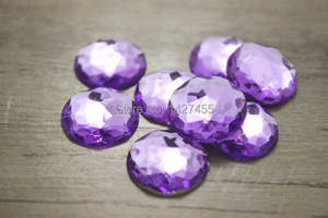 100pcs lot purple 18MM High quality Round Flatback Rhinestone Square  Faceted Acrylic Crystals Craft DIY Decoration non hot fix 11424dcba874