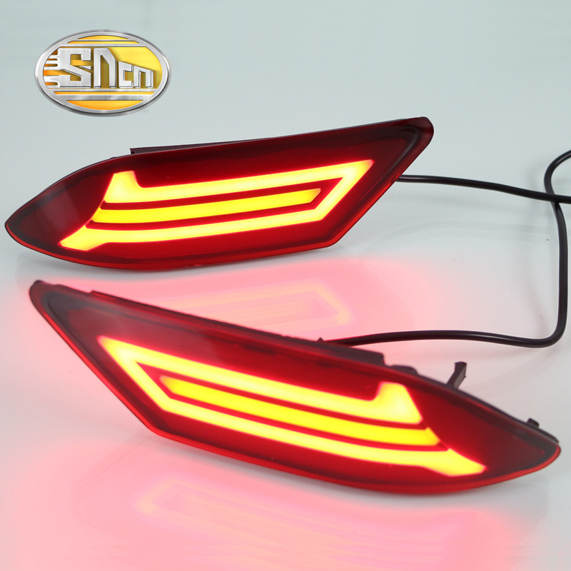 2PCS For Nissan Sentra 2016 2017 SNCN Multi-function LED Rear Bumper Light Rear Fog Lamp Brake Light Turn Signal Light Reflector