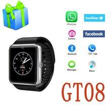 GT08 SmartWatch Reloj inteligente Con Cámara Bluetooth Teléfono Android Tarjeta SIM MP3 de Fitness Inteligente A Prueba de agua Reloj de Pulsera de Reloj