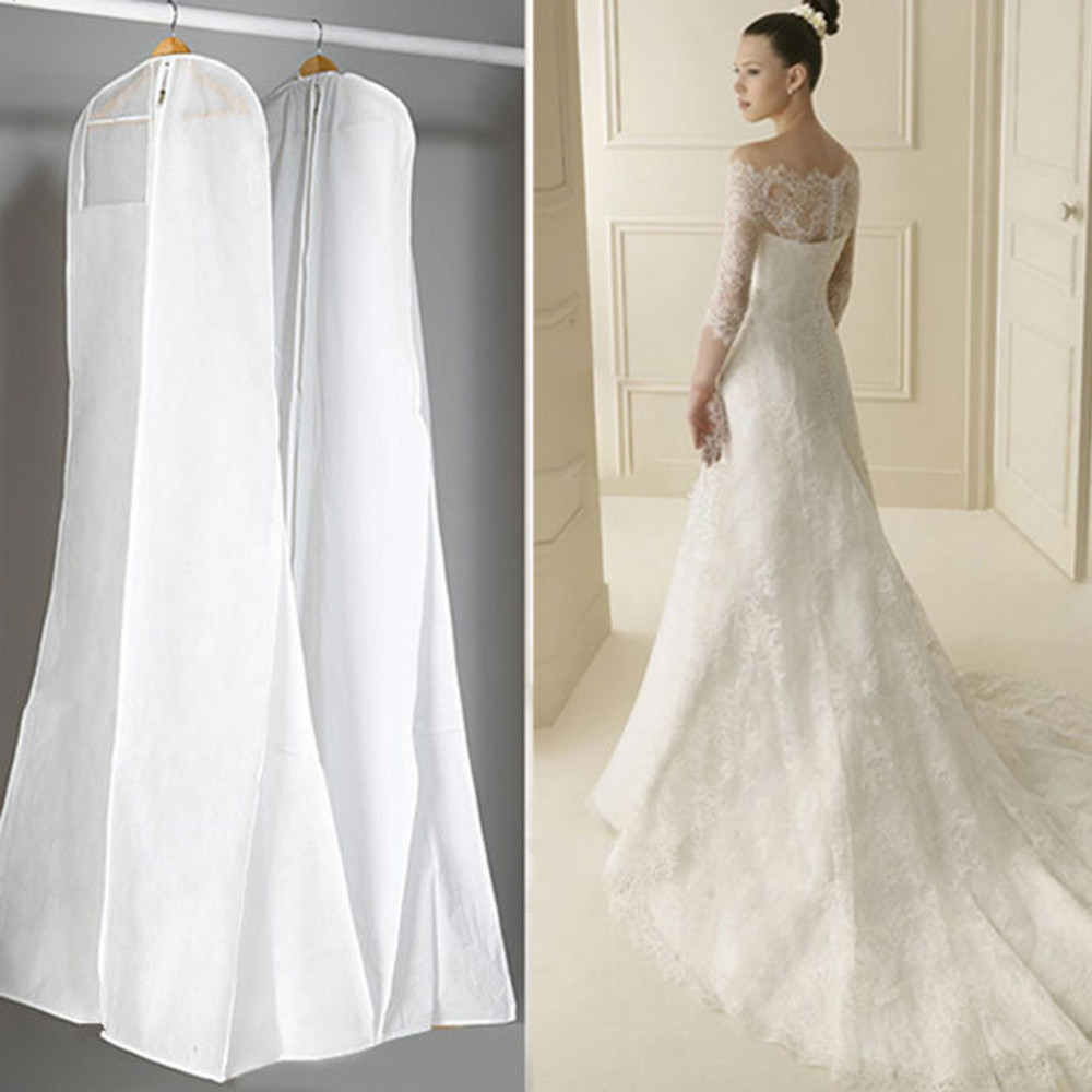 Extra Large Garment Bridal Gown Long Clothes Protector Case Wedding Dress Cover Dustproof Covers Storage Bag For Wedding Dresses