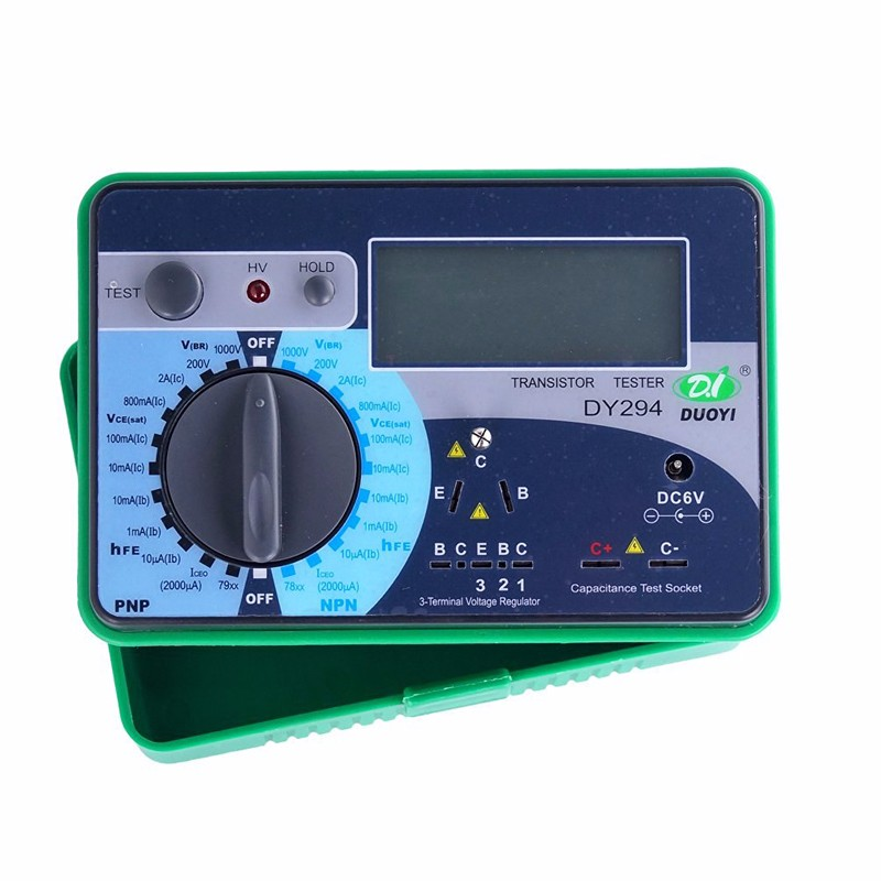 DY294 Digital Transistor Tester DC Parametric Capacitance SCR FET 1000V Reverse Voltage Magnification dy294 lcd display digital transistor dc parameter tester semiconductor tester semiconductor testers meter 1pcs