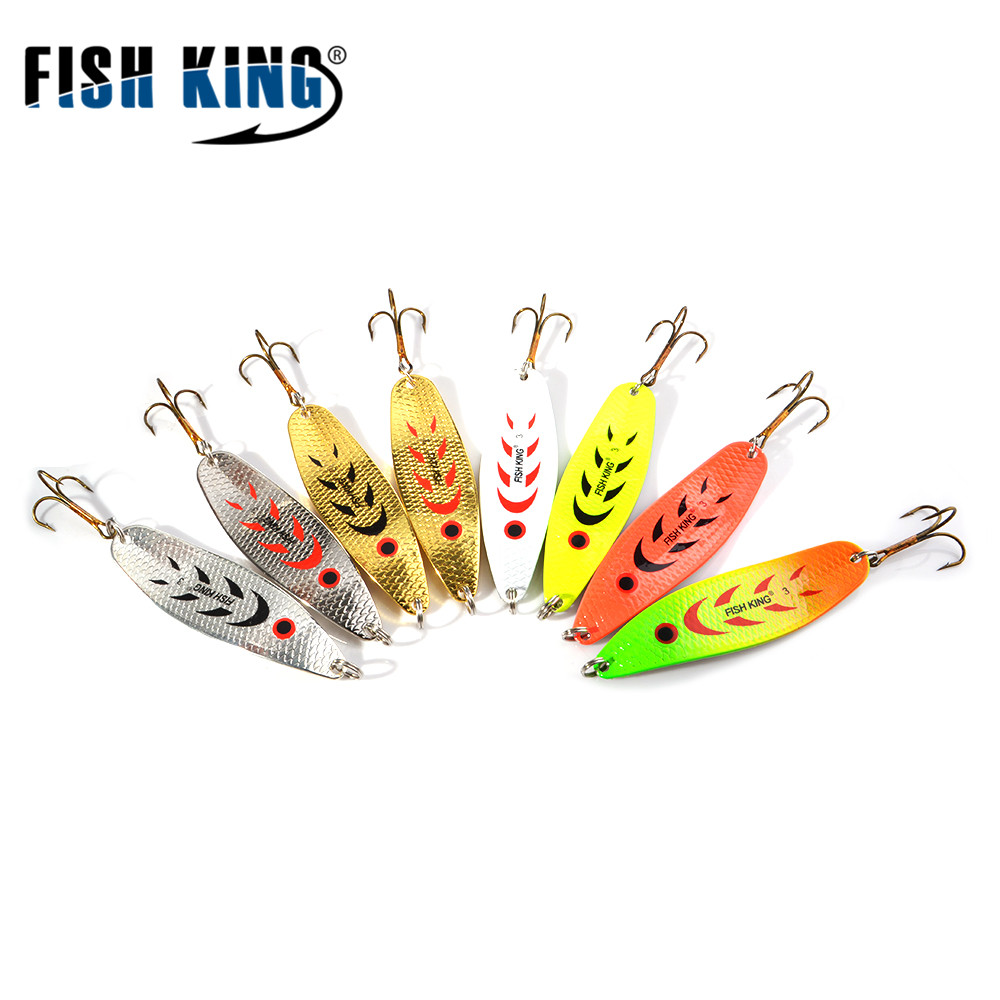 FISHKIN Fishing Lure Mepps Wobbler 18g-27g Peche Spoon Bait Fishing Tackle Winter Artificial Hard Bait Fake Fish Metal Lures Set 10pcswith box metal spoon set fishing lure pesca peche tackle wobblers hard lures isca artificial fresh water sequin paillette