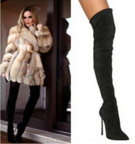 Over The Knee Tight Boots - Cr Boot