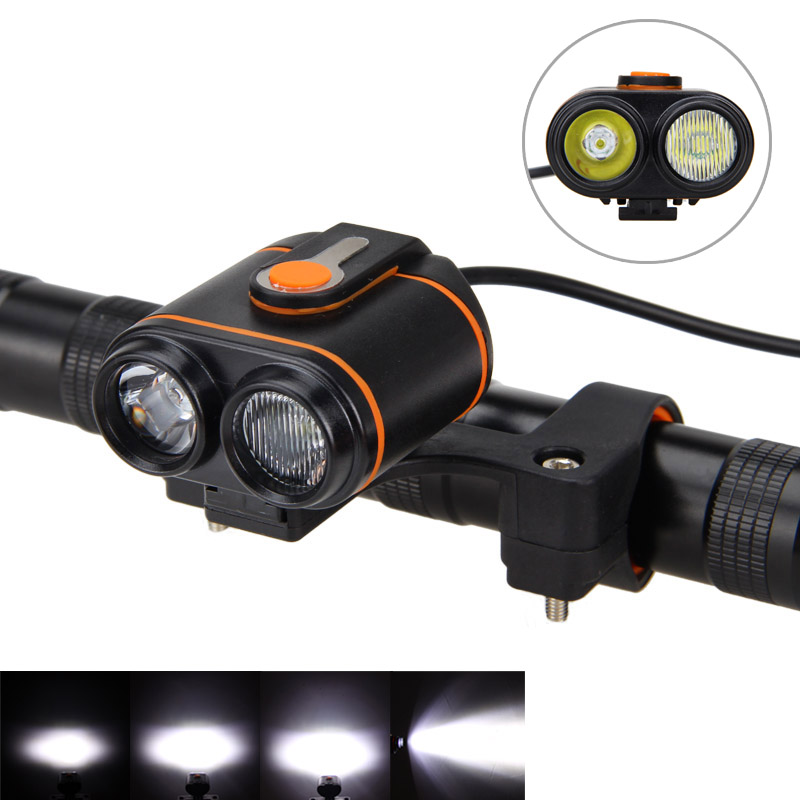 Dual Bike Lamp 10000LM 2*XM-L2 LED Bike Bicycle Light Rechargeable Headlamp Torch +16000mAh Battery Pack + Charger