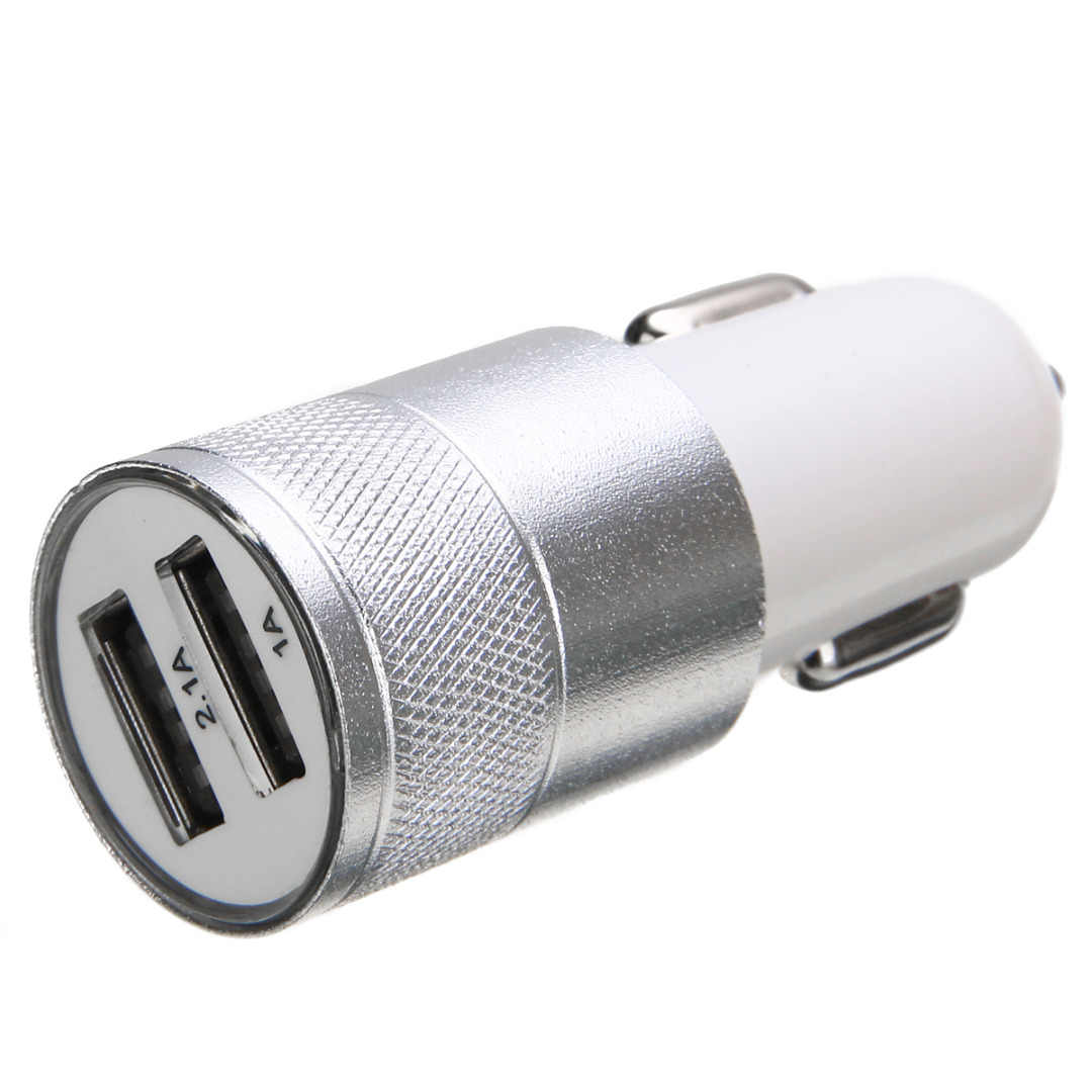 Motorcycle Car 2.1A 12V-24V Mini Dual Port USB Car Cigarette Lighter Car Charger Adapter For Smart Mobile Cell Phone Universal