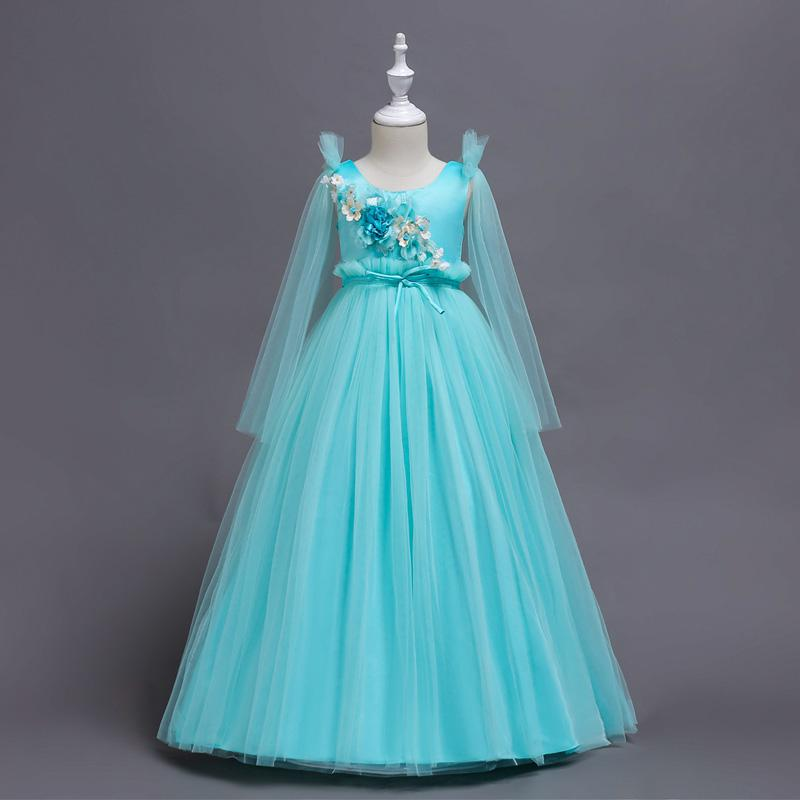 8b08b4bef6 XABH Wedding Flower Girl Dresses Birthday Party Dress Sleeveless Ball Gowns Teenage  Fashion Costumes Gold Elegant