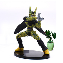 18 cm Anime Dragon Ball Z Cell Brinquedos PVC Action Figure Doll Collectible Model Toy Christmas Gift For Children hot in stock dragon ball cell super kawaii mini toy doll anime action figure cool lovely christmas gift