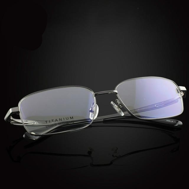 2016 hombres 100% pure titanium miopía gafas de lectura marcos de anteojos de alta calidad comercial anteojos capítulo libera el envío