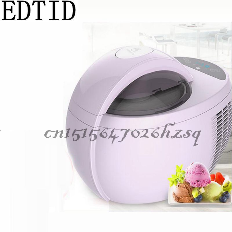 EDTID 110W 220V Household Automatic Electric Fruit ice cream machine1L High-capacity Purple DIY ice cream maker edtid 12kgs 24h portable automatic ice maker household bullet round ice make machine for family bar coffee shop eu us uk plug