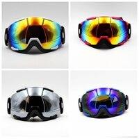 Novo Design 4 Cores Masculino Feminino Marca Novos Óculos de Esqui óculos Máscara Óculos Das Mulheres Dos Homens de Esqui Neve Snowboard Goggles