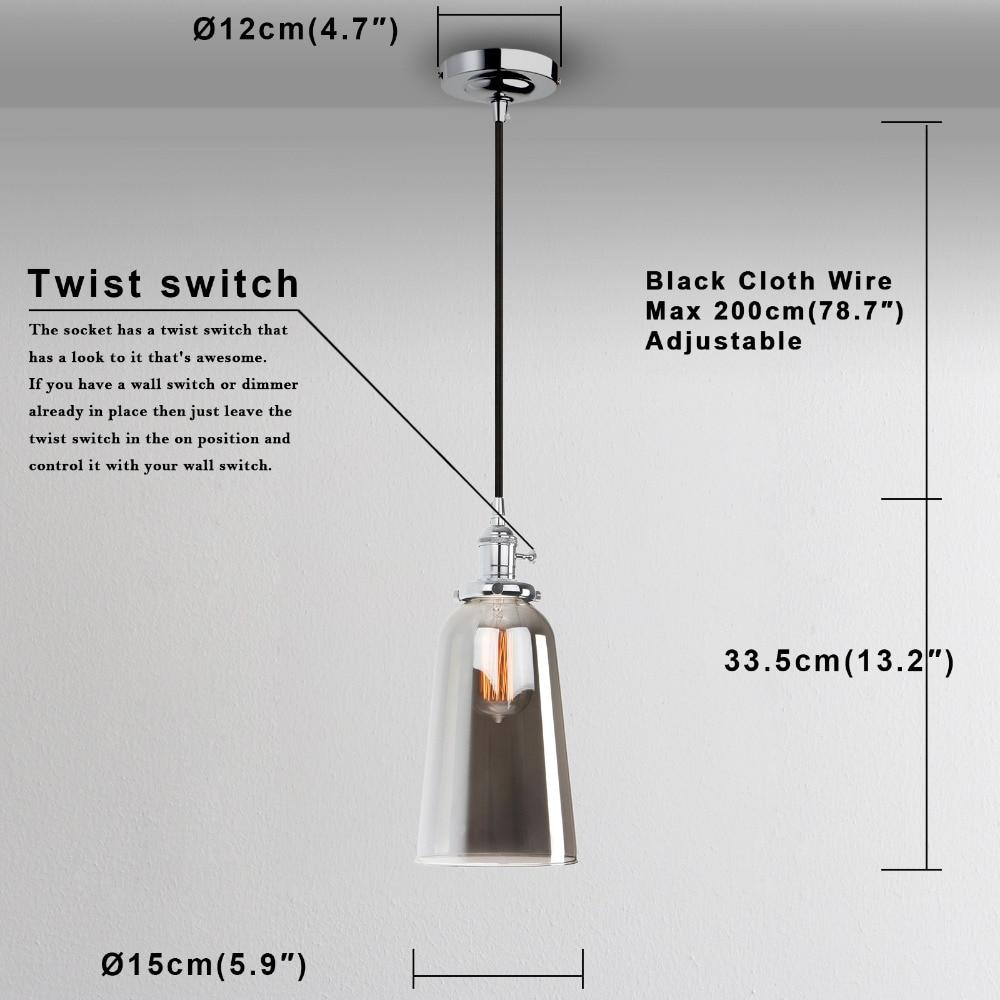 Aliexpress.com : Buy PERMO Vintage Reflective Glass Pendant Lights ...