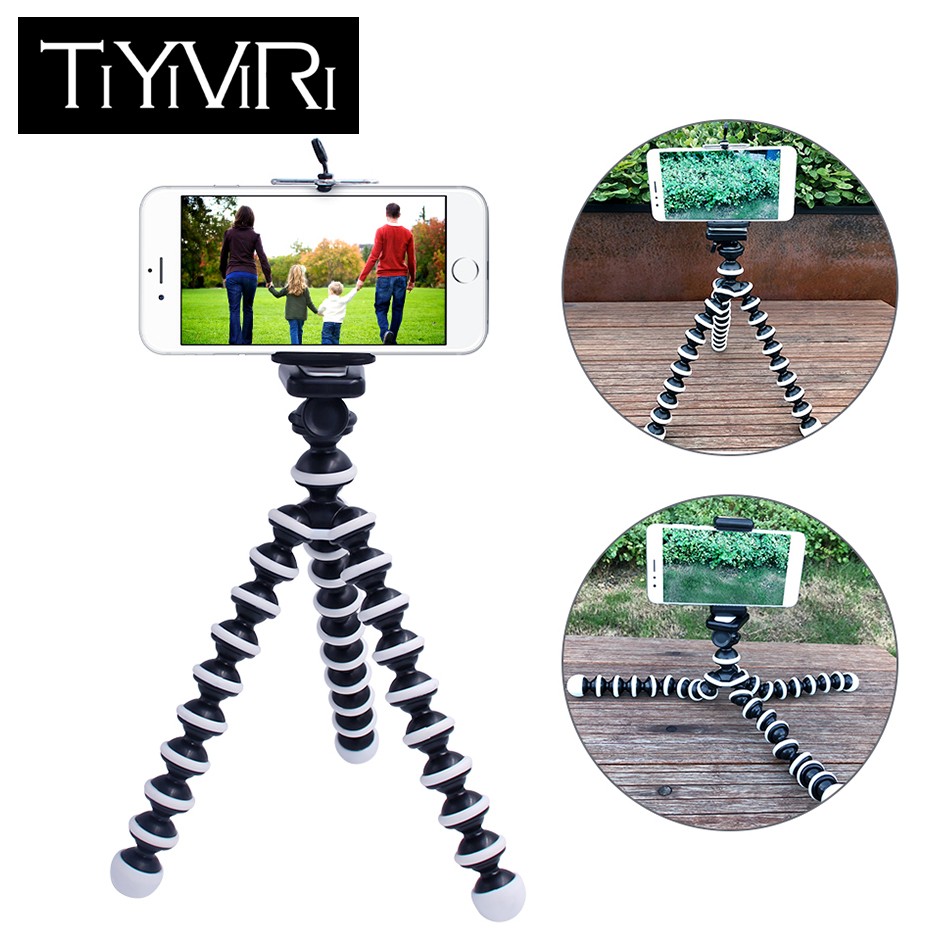 TiYiViRi Kamera Telefon Halter Flexible Octopus Stativ Gorillapod Stehen Berg Einbeinstativ Für für iPhone Xiaomi für Gopro 6 5 kamera