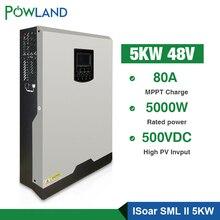 Солнечный инвертор 500Vdc 5000W 80A MPPT 48V 220V решетки инвертор 5Kva чистая синусоида инвертор 60A зарядное устройство