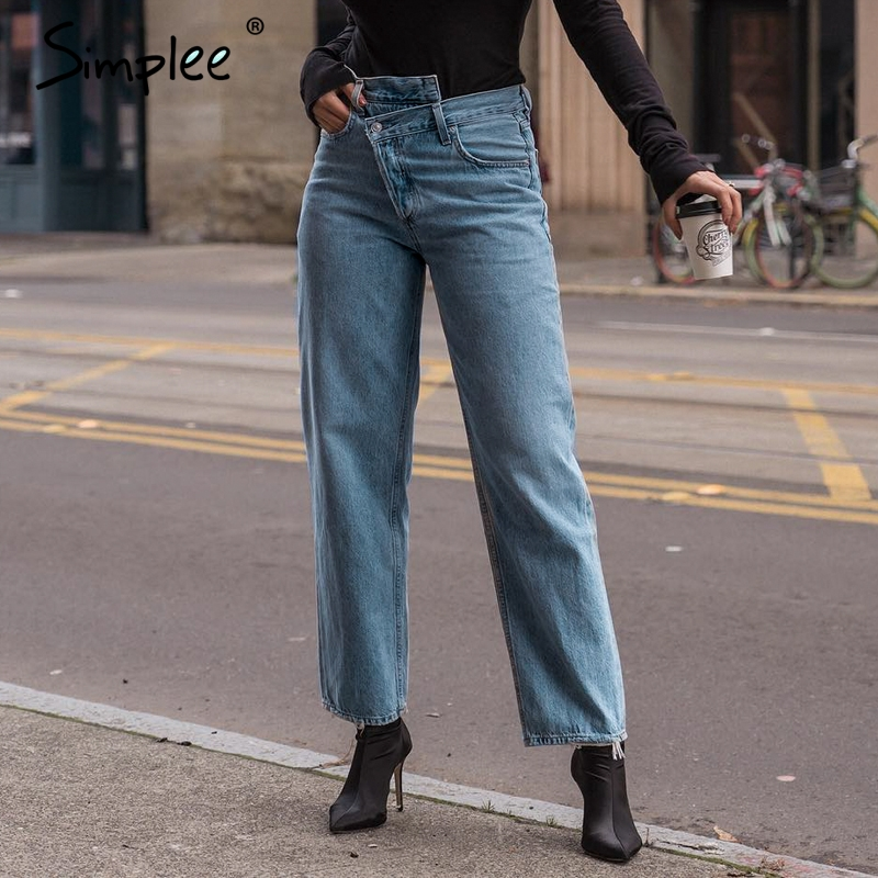 Simplee Push Up Jeans High Waist Woman Light Blue Casual Women Jeans Pants Autumn Winter Skinny Jeans Denim Female Bottom Pants