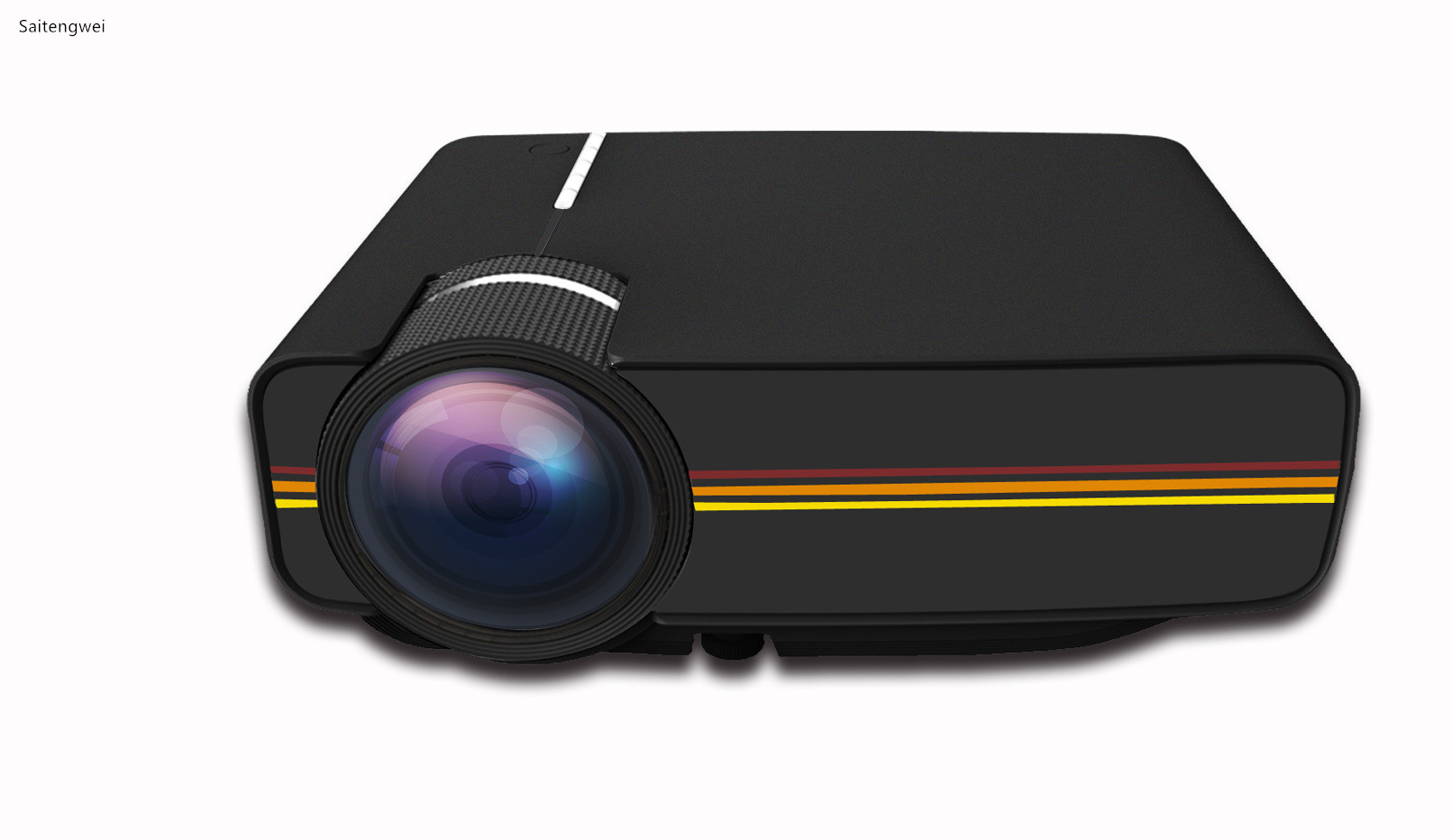 [Black]New YG400 HD LED Projector Home Office 1080 Cinema Projector With The Same Screen image