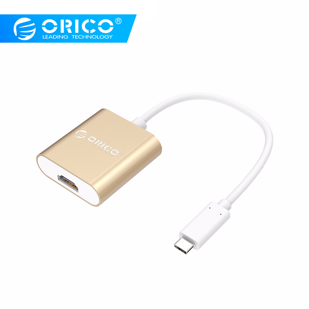 ORICO USB3.1 Type-C to <font><b>HDMI</b></font> VGA Adapter 4K@60Hz 1080P Converter With <font><b>15cm</b></font> Cable Video Audio Adapter for MacBook,XIAOMI,,HUAWEI image