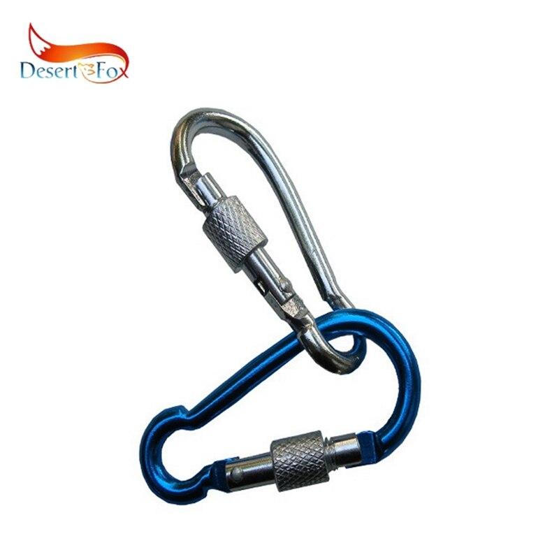 Desert&Fox 2pcs Carabiner Climbing Buckle Random Color Outdoor Accessories Wall Equipment Safty Lock
