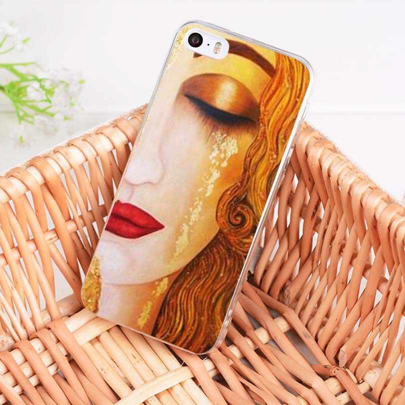 MaiYaCa Gustav Klimt sóc Cây Vàng Nước Mắt Tinh Dầu trong suốt mềm mại Ốp lưng điện thoại cho iPhone 8 7 6 6 S plus X 5 5S SE 5C Bao