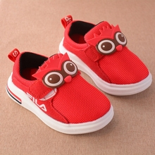 Autumn Children Boys Breathable Mesh Animal Owl Sport Shoes Fashion Sneakers Casual Girls Loafers sapato infantil