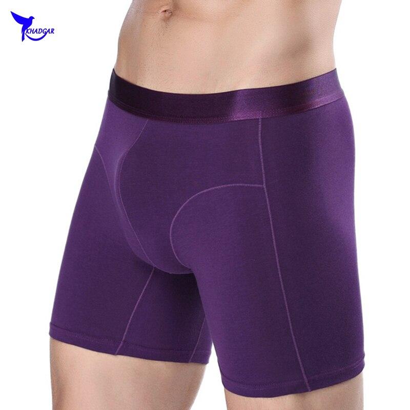 CHENKE New Arrival Mens Underwear Boxers Shorts Fashion Color Pants Cheap Cotton Underwear Brand Boxers Male Underpants Long Leg