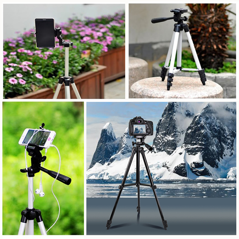 Mobile Phone Tripod Stand 40inch Universal Photography for Gopro iPhone Samsung Xiaomi Huawei Phone Aluminum Travel Tripode Para 4