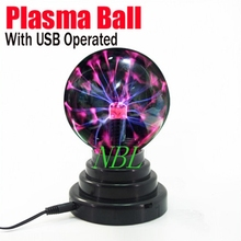 New USB Magic Plasma Ball 3.5″ Plasma Light Ball With USB Operated Funny Plasma Lamp Festivals Decoration Gift With Package