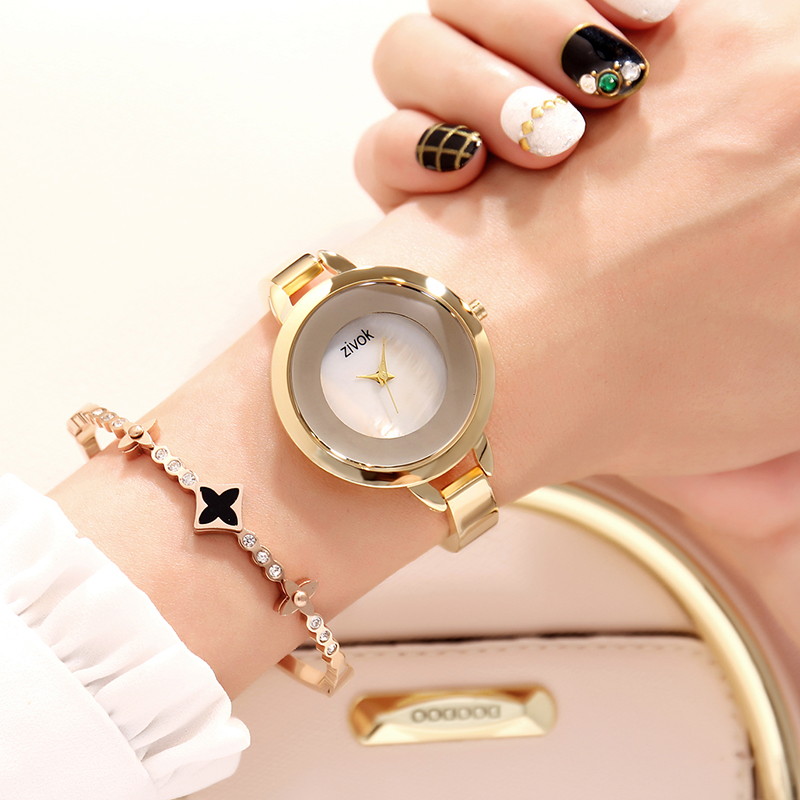 zivok Gold Ladies Wrist Watch Women Bracelet Luxury Creative Lovers Quartz Women Watches Clock Relogio Feminino Reloj Mujer sinobi rose gold luxury wrist watch clock women reloj mujer ladies quartz watch women waterproof relogio feminino 2017 with date