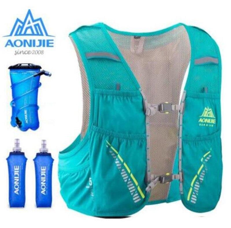 AONIJIE Men Women 5L Outdoor Running Backpack Hydration Vest Pack Cycling Water Bladder Running Race Marathon