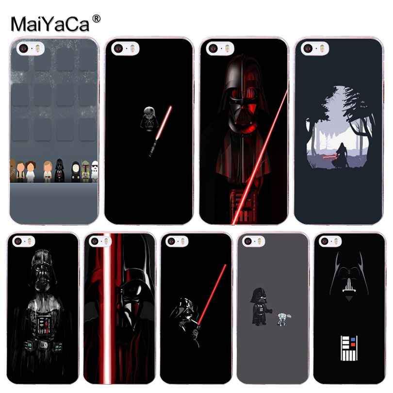 MaiYaCa Darth vader Star wars Child Plastic Rubber Cell Phone Case for Apple iPhone 8 7 6 6S Plus X 5 5S SE XR XS XS MAX Cover