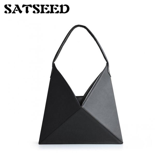 2018 Beauty Winter Chic Design Minimalist Origami Portable Shoulder Bag Frigidity Style Folding Bags Tote Fringe