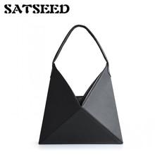 2018 Beauty Winter Chic Design Minimalist Origami Portable Shoulder Bag Frigidity Style Folding Bags Tote Fringe Handbag