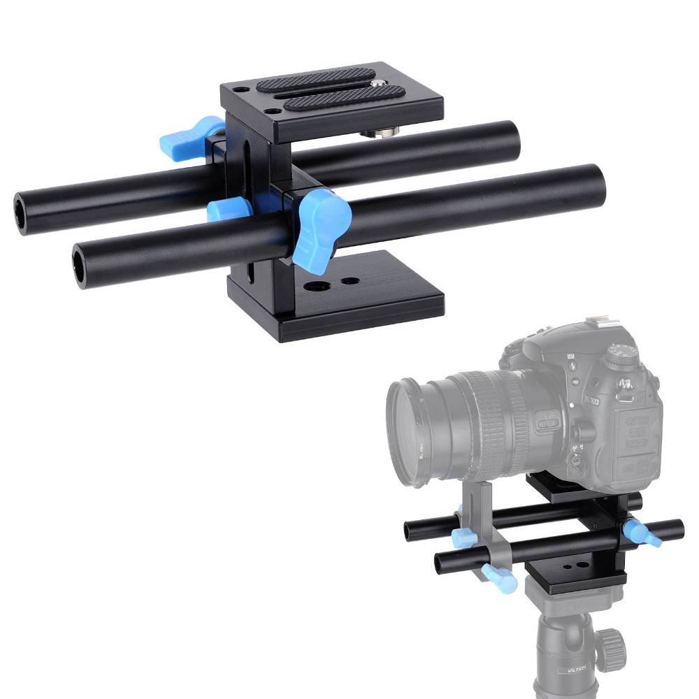 15mm Rail Rod Support System Baseplate Mount For Canon