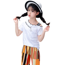 hot deal buy girls clothing sets 2019 new cotton short sleeve kids clothes baby tshirt+ shorts children's suit 3-12 baby girl clothes